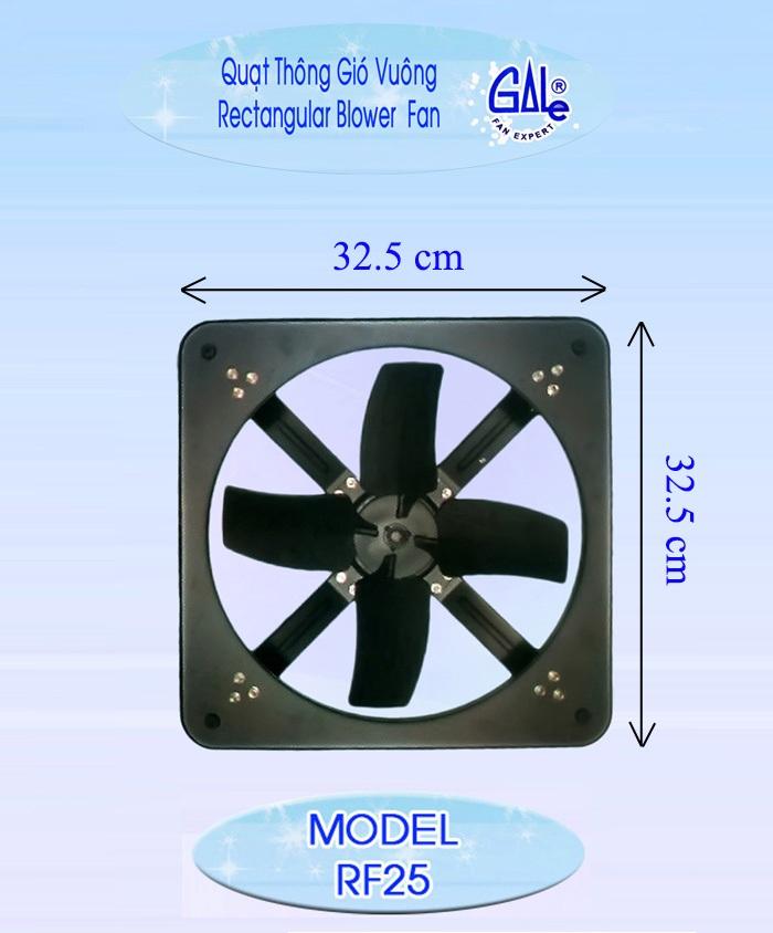 Quạt thông gió vuông Gale RF25
