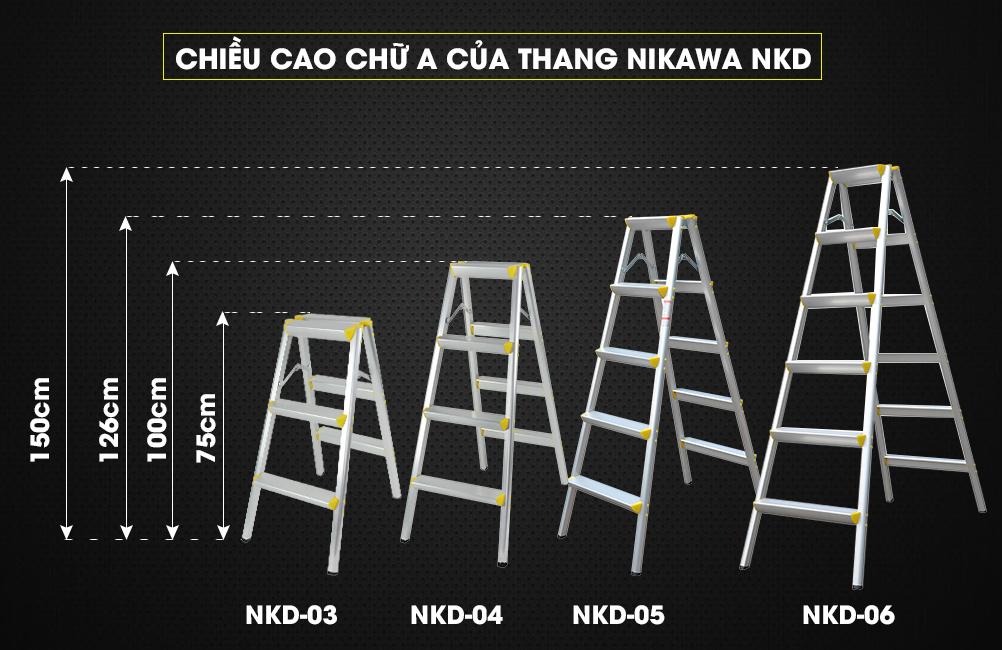 Thang gấp chữ A Nikawa NKD-03