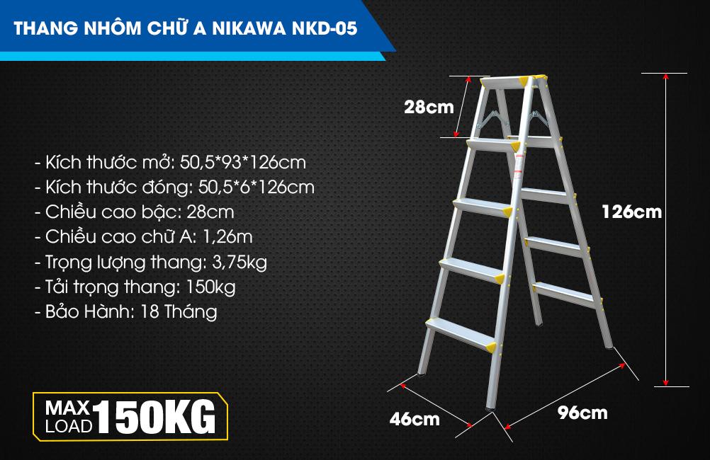 Thang gấp chữ A Nikawa NKD-05