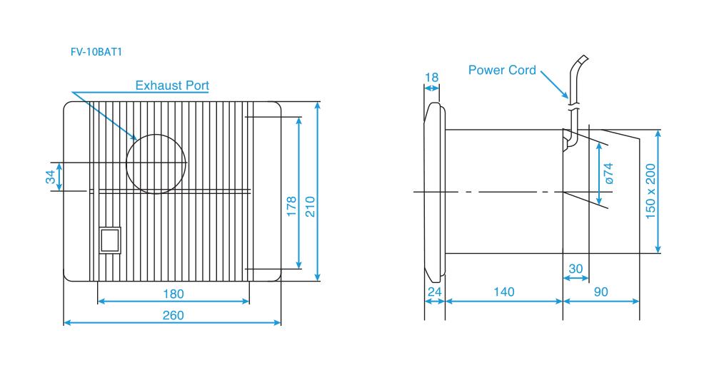 Quạt hút gắn tường Panasonic FV-10BAT1