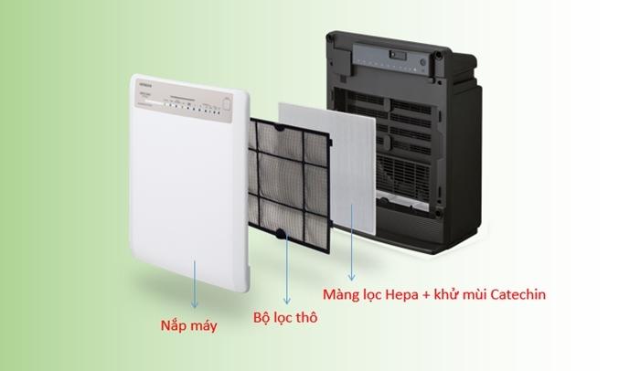 Máy lọc không khí Hitachi EP-PZ50J 240 (WH)có bộ lọc HEPA
