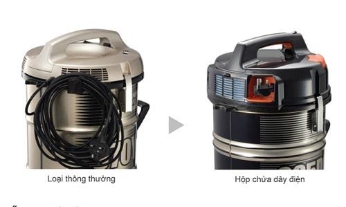 Máy hút bụi Hitachi CV-985DC có hộp chứa dây điện tiện lợi