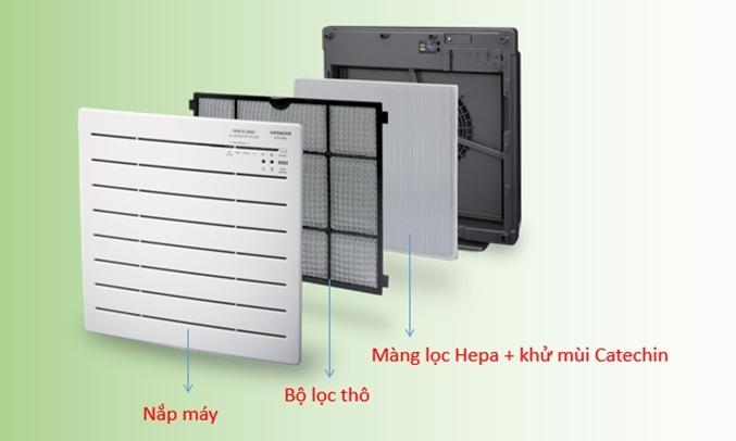 Máy lọc không khí Hitachi EP-PZ30J 240 (WH)có bộ lọc HEPA