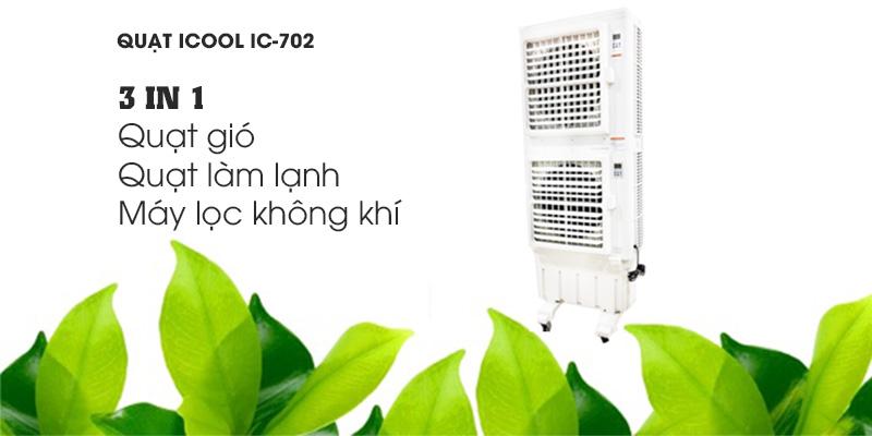 Quạt điều hòa không khí iCool IC-702 tính năng 3 trong 1