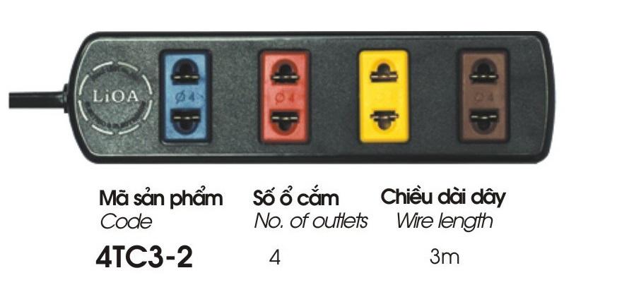 Ổ Cắm Điện Phổ Thông Lioa 4TC3-2
