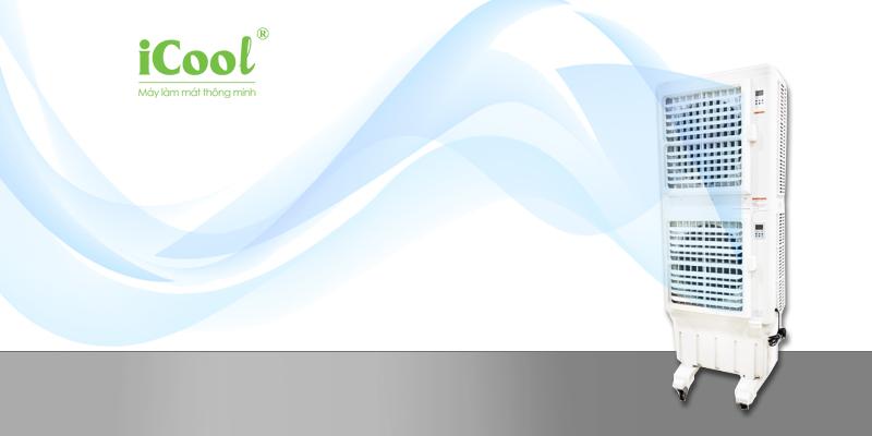 Quạt điều hòa không khí iCool IC-702 chất liệu nhựa ABS biền bỉ