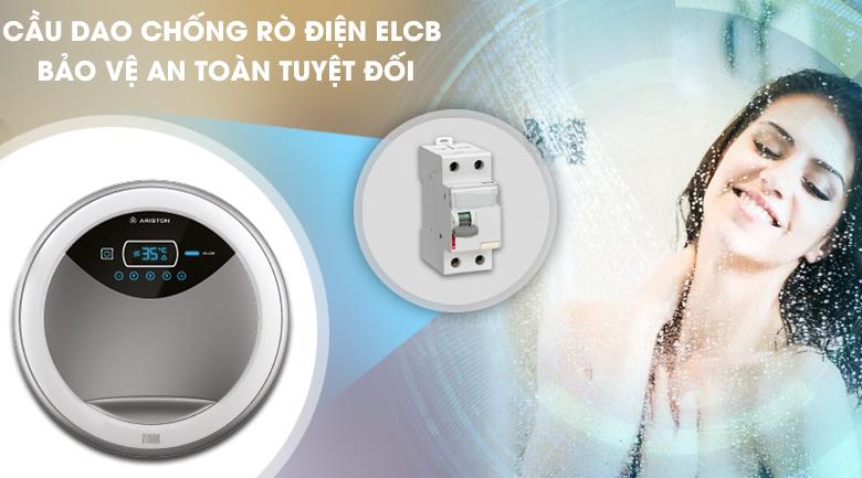 Cầu dao chống rò điện ELCB - Máy nước nóng Ariston RT45PE-VN - 4.5 kW