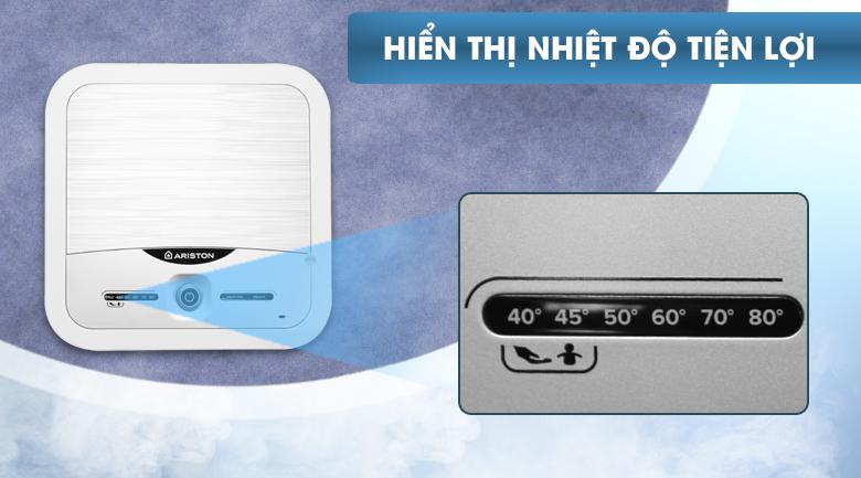 Màn hình hiển thị nhiệt độ - Bình nóng lạnh Ariston 30 lít AN2 30 LUX 2.5 FE