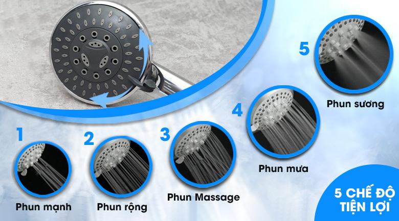 Vòi sen 5 chế độ phun - Máy nước nóng Ariston ST45PE-VN